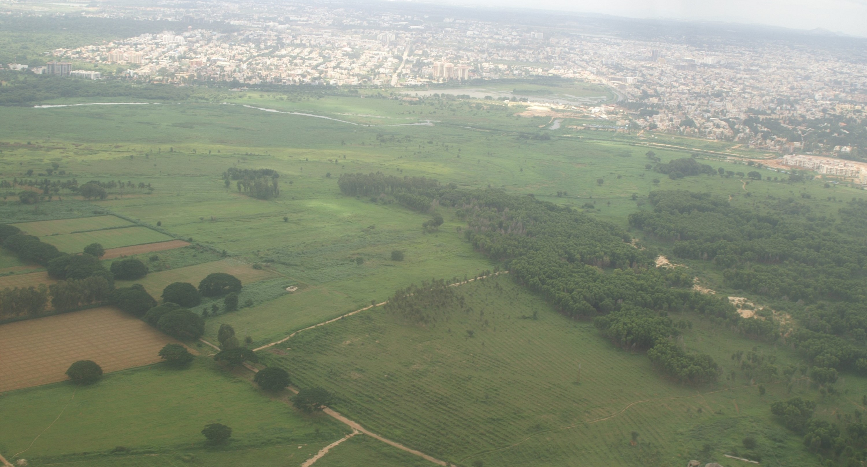 Aerial view of Bellandur-Agara in 2005