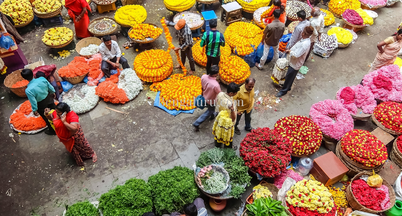 Bengaluru - KR Market flowers