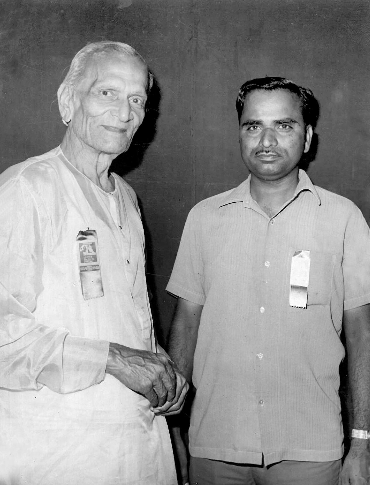 HN Narahari Rao with RC Boral at Nostalgia in 1977