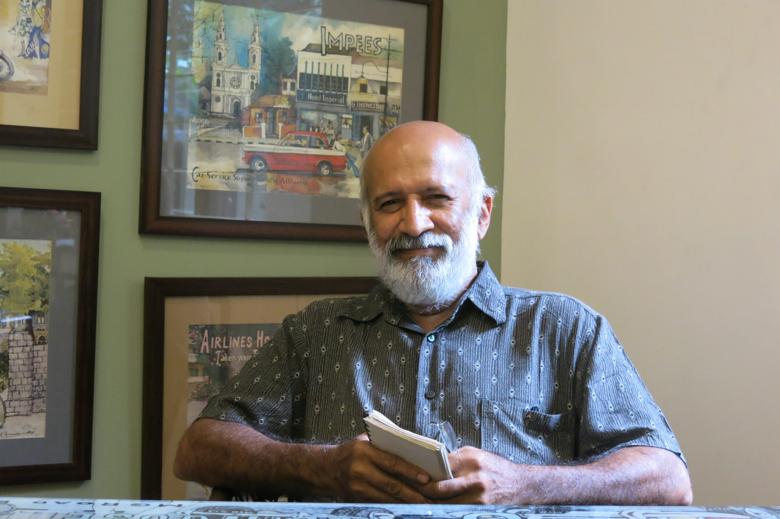 Paul Fernandes, author of Bangalore Swinging in the 70s