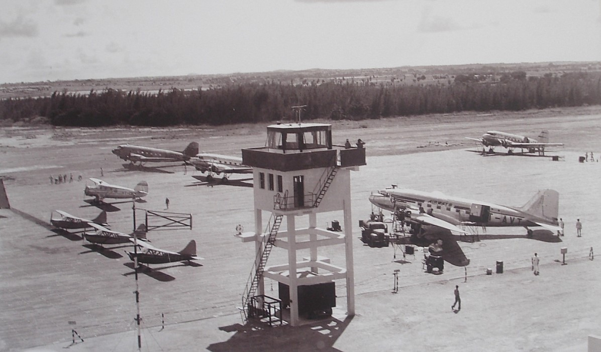 A view of the HAL airport in 1947
