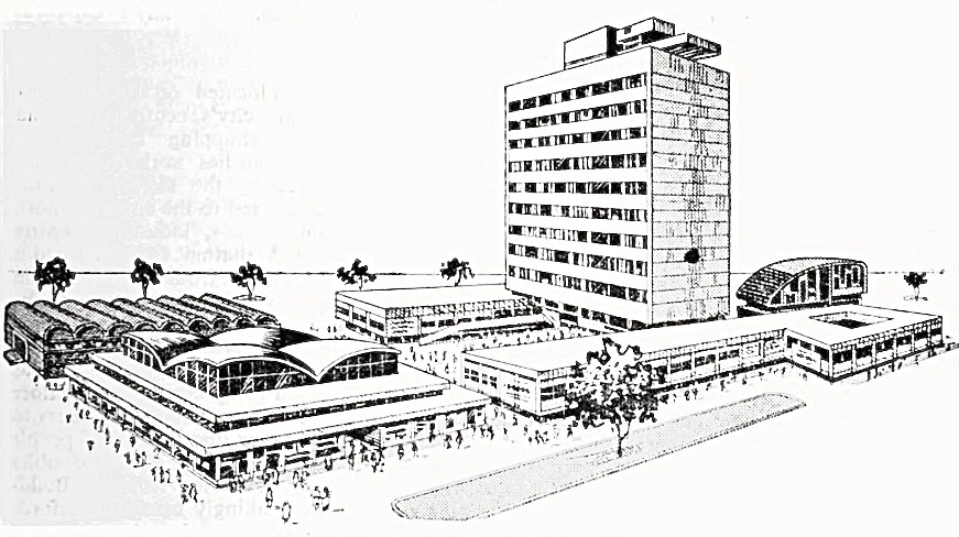 Design drawing of Jayanagar Shopping Complex